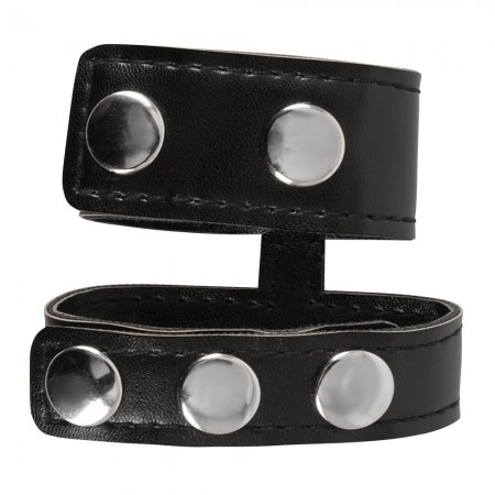 Rebel Mens Gear Cock Strap With Ball Stretcher
