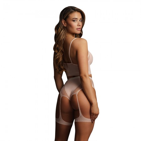 Le Desir Bliss Pink 2 Piece Set With Garters UK 6 to 14