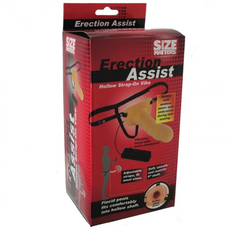 Size Matters Erection Assist Vibrating Hollow Strap On